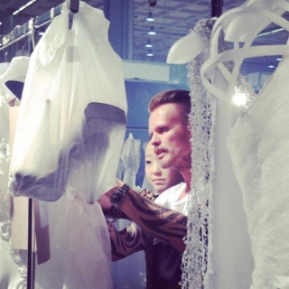 Behind the scenes at David Fielden's runway show in Milan for Sposa 2013